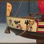 Nave egiziana, particolare della prua
