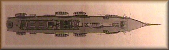 Vista del ponte superiore di un piroscafo a elica passeggeri-posta