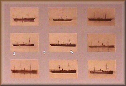 Quadri delle foto di piroscafi del Lloyd Austriaco