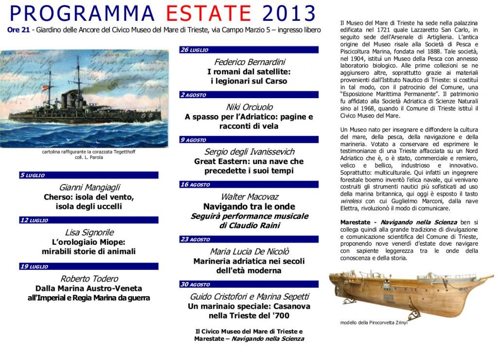Depliant Marestate 2013