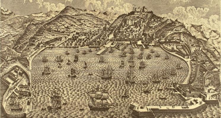 A DESTRA IL LAZZARETTO SAN CARLO 1730 - A SINISTRA IL LAZZARETTO DI S. TERESA 1769
